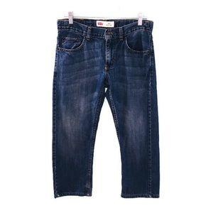 Levi's 505 Regular Blue Denim Straight Leg Jeans